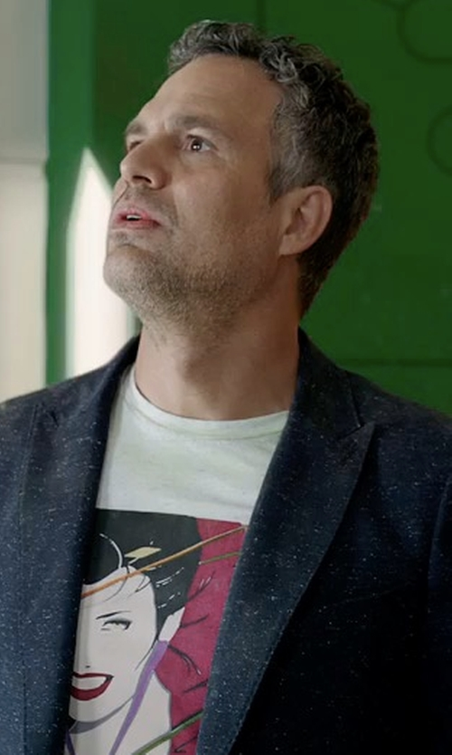 Mark Ruffalo with Reiss Burling B Peak Lapel Wool Blazer in Thor: Ragnarok