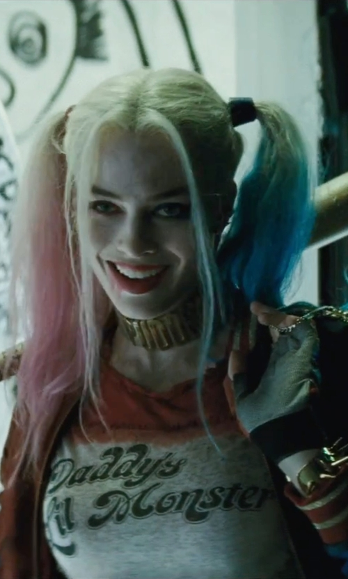 Margot Robbie with Matchless Margot Bomber Jacket in Suicide Squad