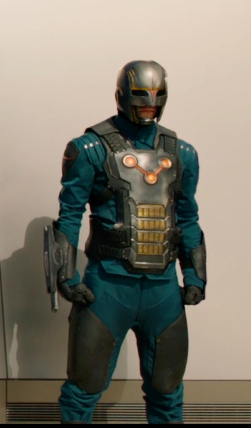 Unknown Actor with Alexandra Byrne (Costume Designer) Custom Made Costume (Nova Corps troopers) in Guardians of the Galaxy
