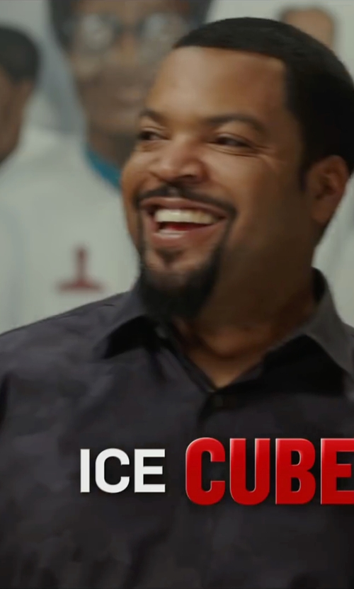 Ice Cube with Burberry Brit Alden Multi Camo-Print Sport Shirt in Barbershop: The Next Cut