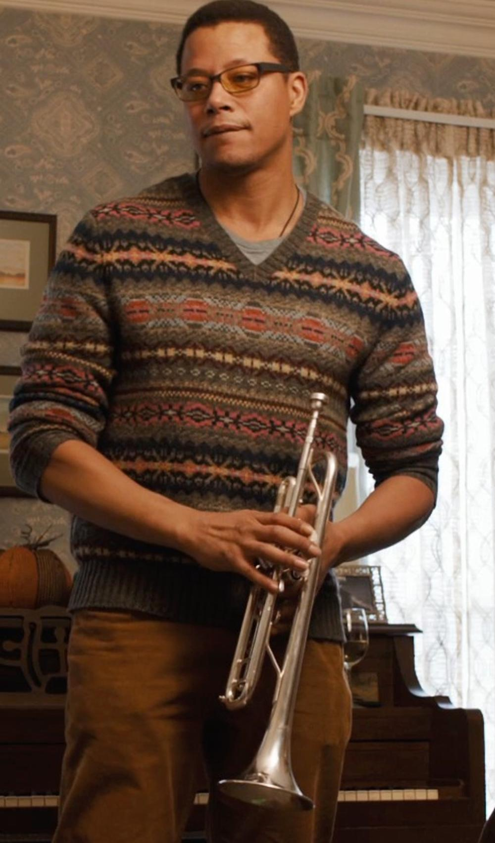 Terrence Howard  with Hawk Bb Trumpet with Case and Mouthpiece in Prisoners