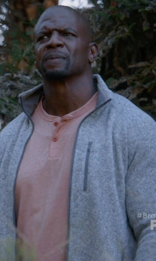 Terry Crews with The North Face 'Texture Cap Rock' Fleece Jacket in Brooklyn Nine-Nine