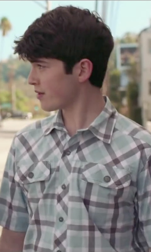 Ian Nelson with Nau Bachelor Plaid Sport Shirt in The Boy Next Door