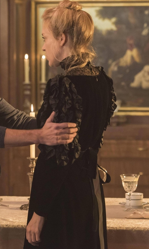 Chloë Sevigny with Nina Ricci Mixed-Media Handkerchief-Hem Dress in American Horror Story