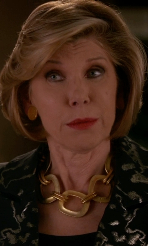Christine Baranski with Michael Kors Link Toggle Necklace in The Good Wife