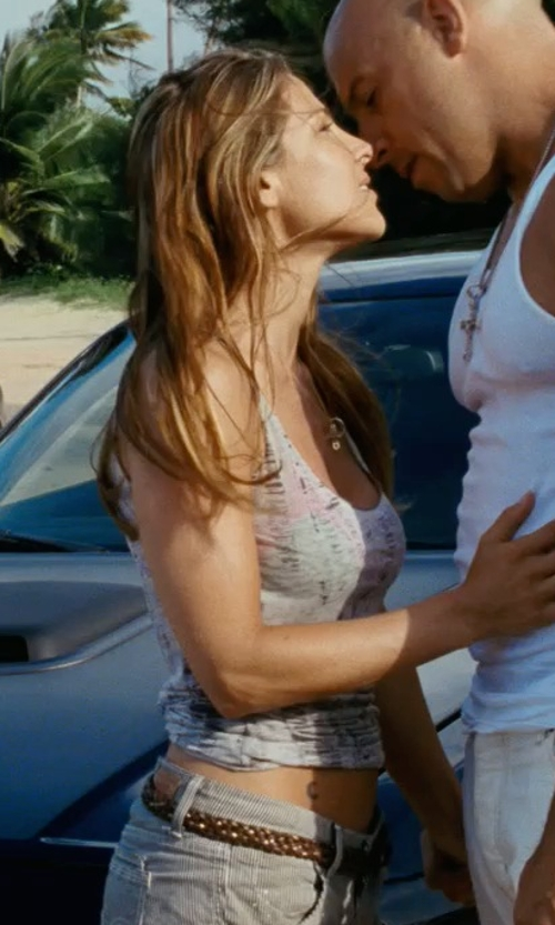 Elsa Pataky with Joe's Jeans Japanese Denim Rolled Short in Fast Five
