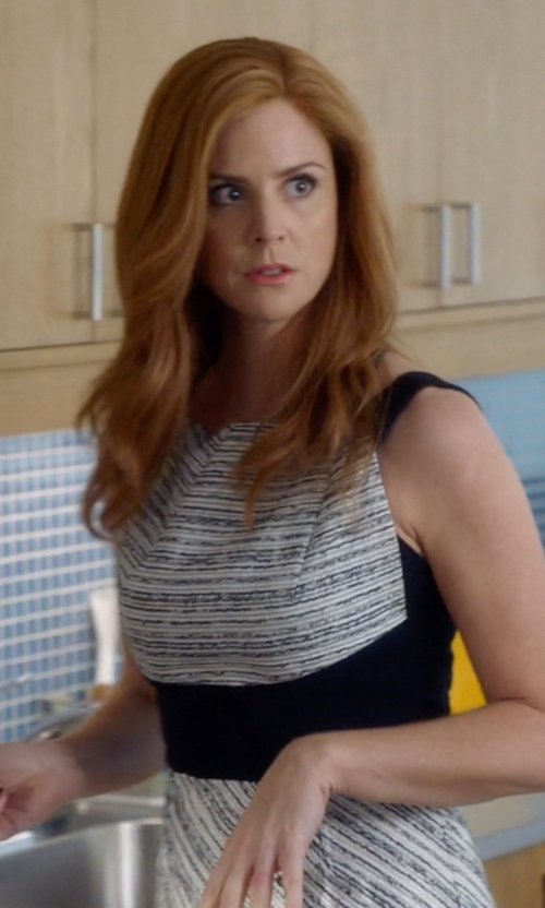 Sarah Rafferty with Roland Mouret 'Quebec' Dress in Suits