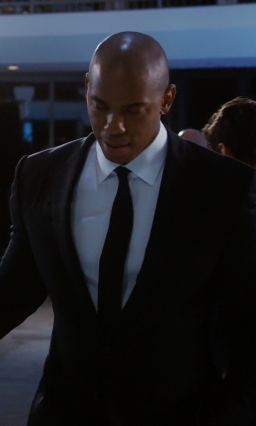 Mehcad Brooks with Boss Hugo Boss Huge Genius Slim-Fit Basic Suit in Supergirl