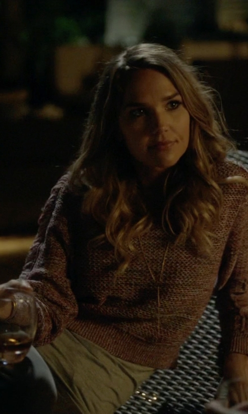 Arielle Kebbel with Charlotte Russe Crop Knit Sweater in Ballers