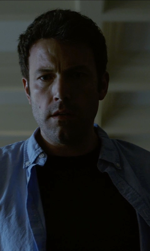 Ben Affleck with Vince Crew Neck T-Shirt in Gone Girl