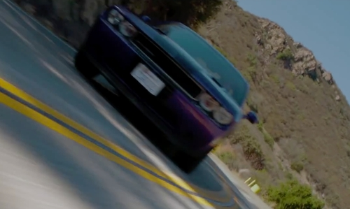 Ian Nelson with Dodge Challenger Muscle Car in The Boy Next Door