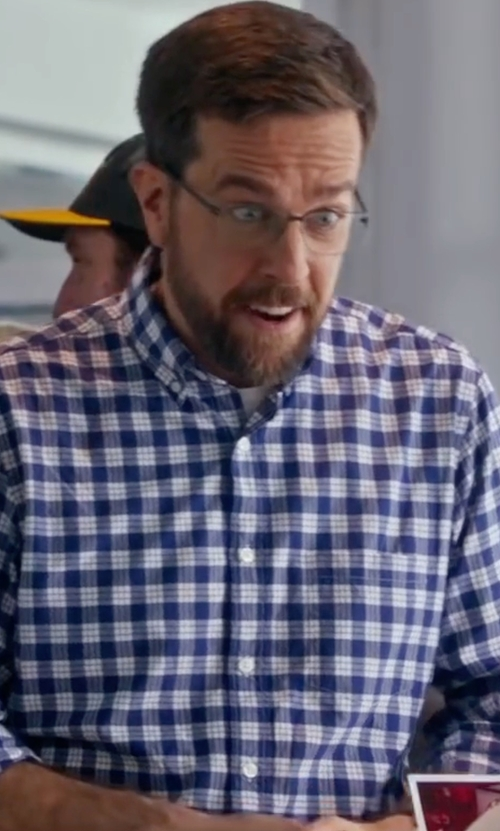 Ed Helms with Polo Ralph Lauren Gingham Check Sportshirt in Bastards