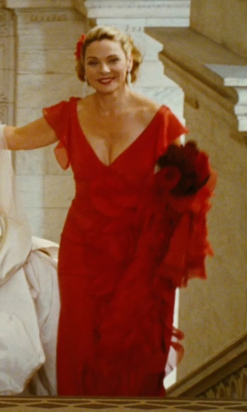 Kim Cattrall with Zac Posen Spring 2008 Red Gown in Sex and the City