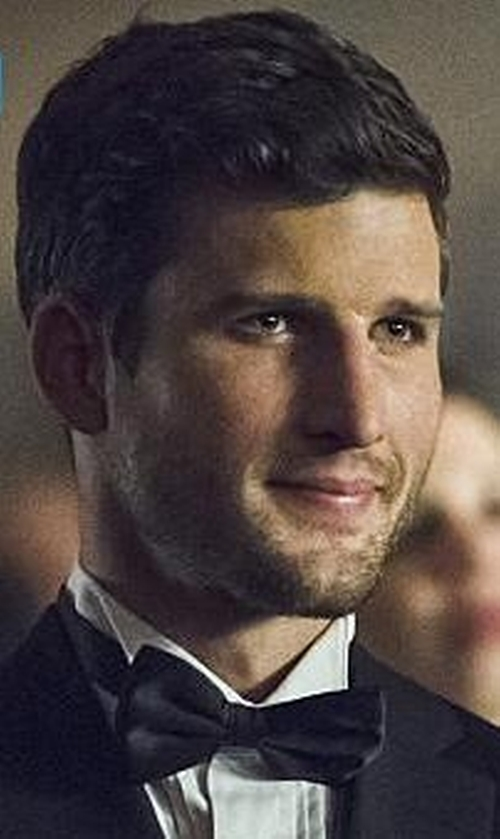 Parker Young with Boss Silk Bow Tie in Arrow
