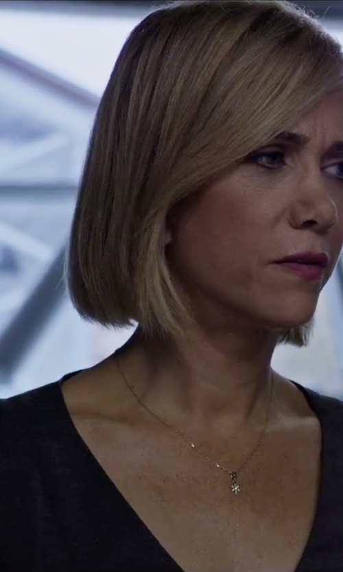 Kristen Wiig with Cooper & Ella Susan Open Zip Back Blouse in The Martian