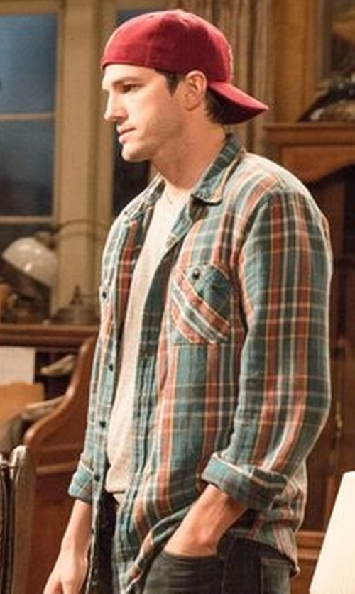 Ashton Kutcher with Pendleton Long Sleeve Frontier Shirt in The Ranch
