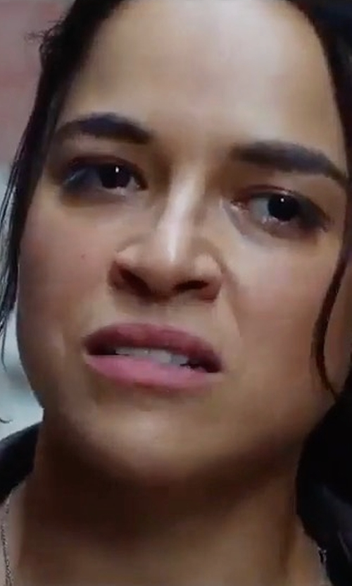 Michelle Rodriguez with Lamarque Cersei Jacket in The Fate of the Furious