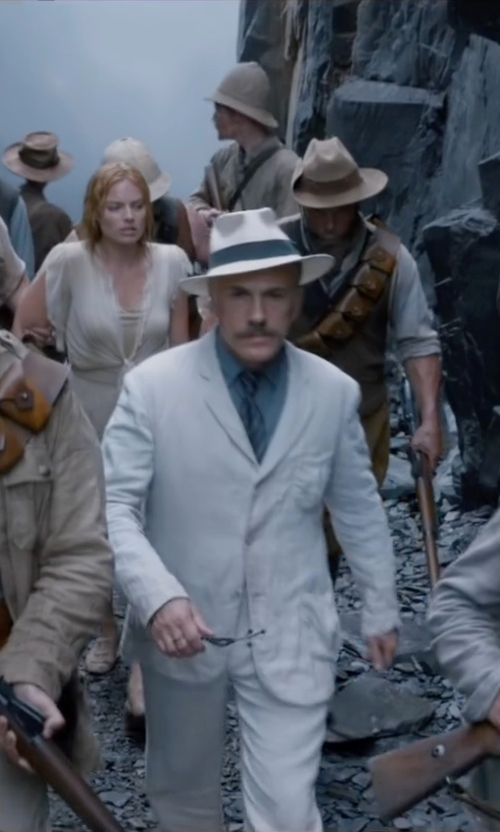 Christoph Waltz with Malo Five Button Sport Coat in The Legend of Tarzan
