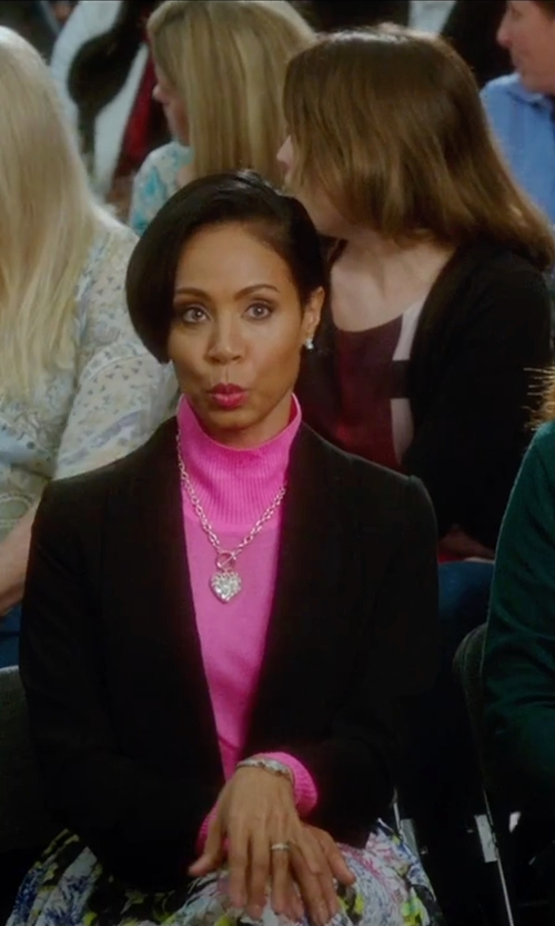 Jada Pinkett Smith with Judith Jack Sterling Silver Crystal and Marcasite Heart Pendant Necklace in Bad Moms