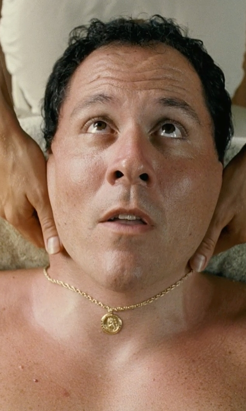 Jon Favreau with PP Luxury 14K Yellow Gold Disc Pendant Necklace in Couple's Retreat