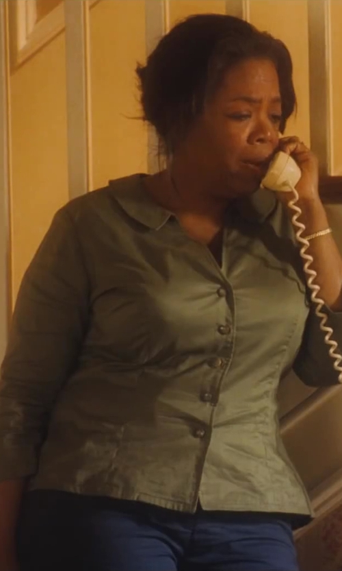 Oprah Winfrey with Lands' End Women's Tall Fit 2 Straight Leg Chino Pants in Lee Daniels' The Butler