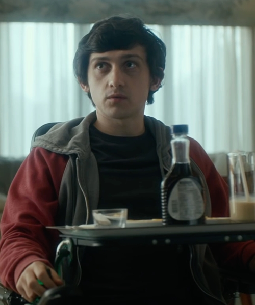 Craig Roberts with Alternative Rocky Color-Block Eco-Fleece Zip Hoodie in The Fundamentals of Caring