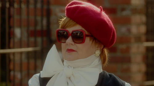 Melissa McCarthy with Dolce & Gabbana Square Acetate Sunglasses in The Boss