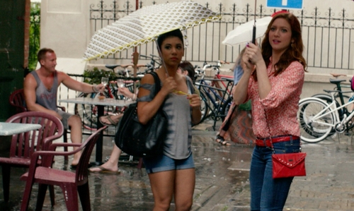 Chrissie Fit with Jessica Simpson Vintage High Waist Denim Shorts in Pitch Perfect 2