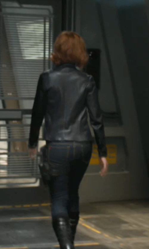 Scarlett Johansson with Loeffler Randall Tall Wedge Boots in Marvel's The Avengers