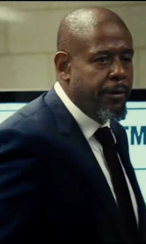 Forest Whitaker with David Donahue Woven Silk Tie in Taken 3