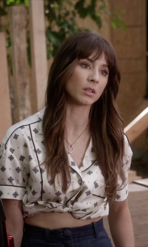 Troian Bellisario with Topshop David High-Rise Wide-Leg Jeans in Pretty Little Liars