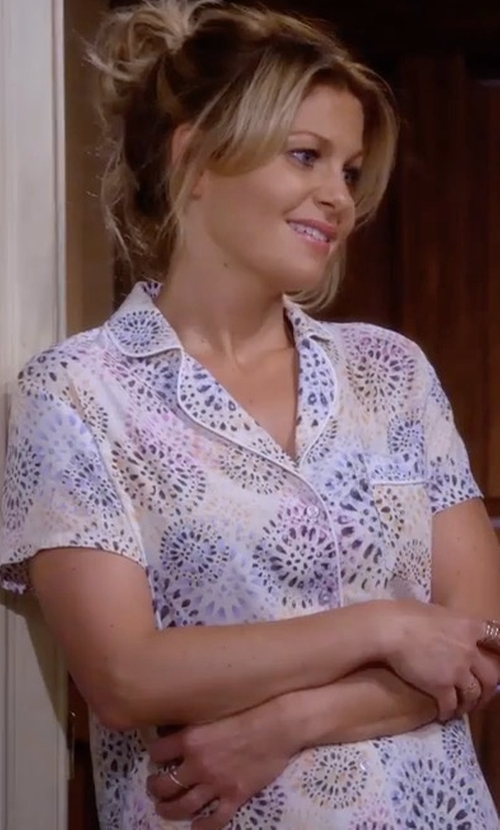 Candace Cameron Bure with Eberjey Nightingale Short Pajamas in Fuller House