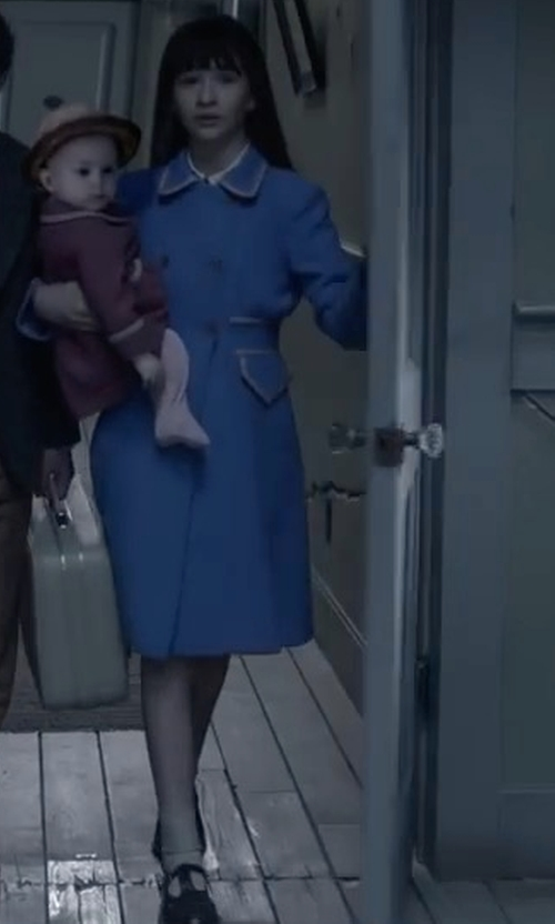 Malina Weissman with SJP by Sarah Jessica Parker Sashay Suede Mary Jane Flats in Lemony Snicket's A Series of Unfortunate Events