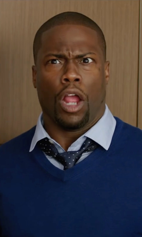 Kevin Hart with Hugo Boss Pinhead Polka Dot Tie in Central Intelligence