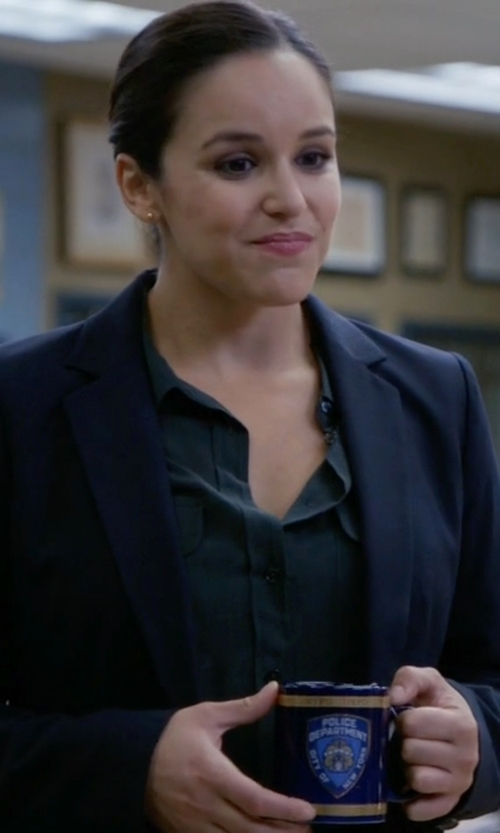 Melissa Fumero with Acne Studios Single-Breasted Blazer in Brooklyn Nine-Nine
