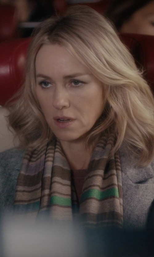 Naomi Watts with Missoni Skinny Metallic Scarf in Gypsy