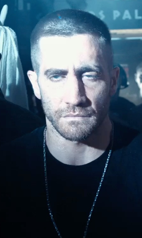 Jake Gyllenhaal with David Yurman Small Box Chain Necklace in Southpaw