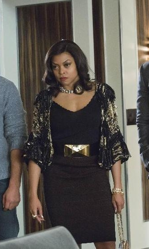 Taraji P. Henson with Alexander Mcqueen High-Waist Belt in Empire
