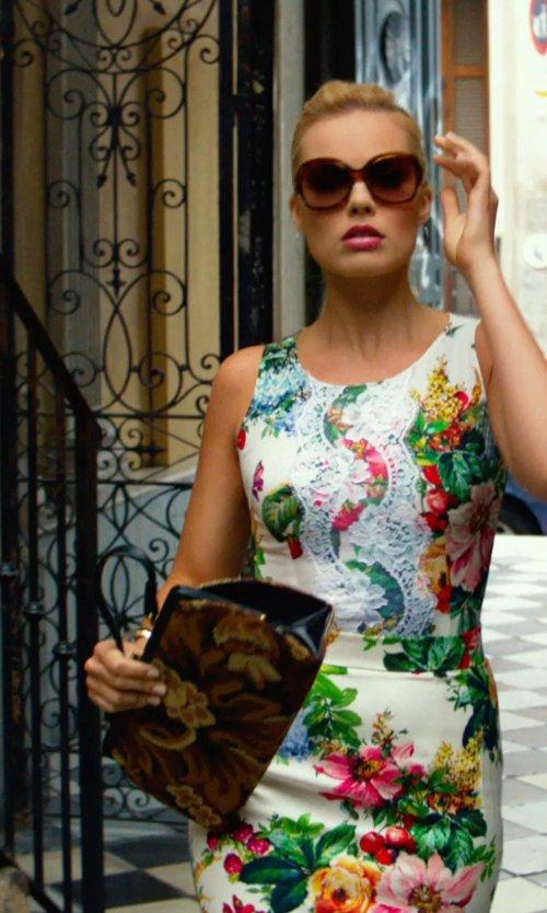 Margot Robbie with Patricia Nash Ferrara Satchel Bag in Focus