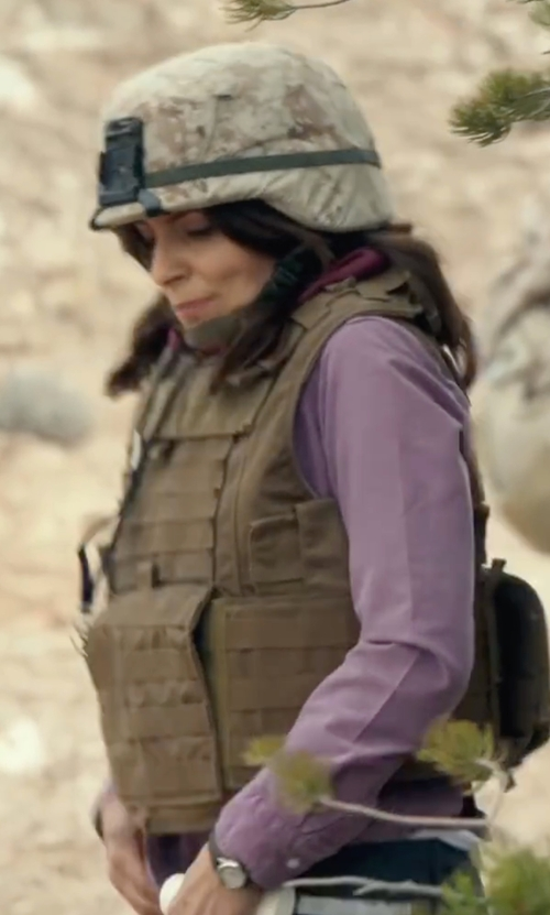 Tina Fey with White Sierra Canyon Crest Shirt in Whiskey Tango Foxtrot