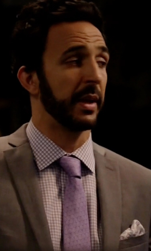 Amir Arison with John W. Nordstrom 'Bucannon' Medallion Silk Tie in The Blacklist