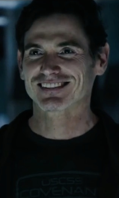 Billy Crudup with Tee Public USCSS Covenant Crewneck T-Shirt in Alien: Covenant