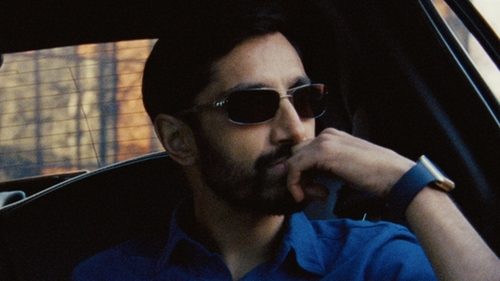 Riz Ahmed with Ray-Ban Square Mirrored Sunglasses in Jason Bourne