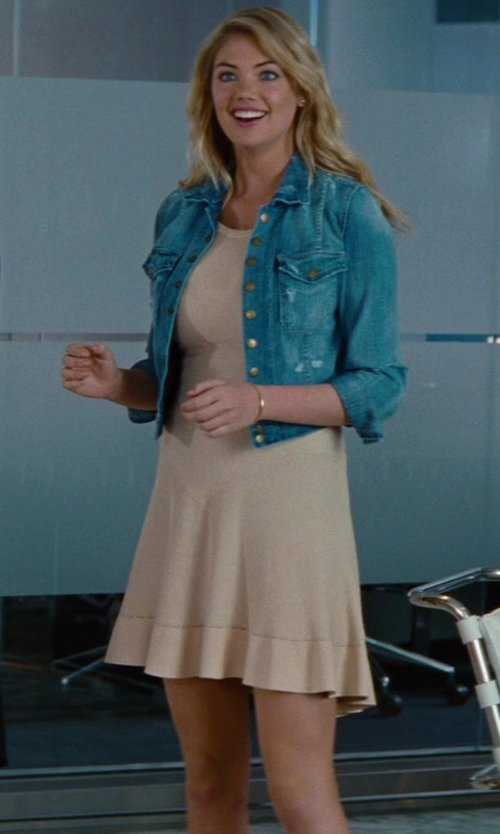 Kate Upton with Azzedine Alaia Skater Dress in The Other Woman