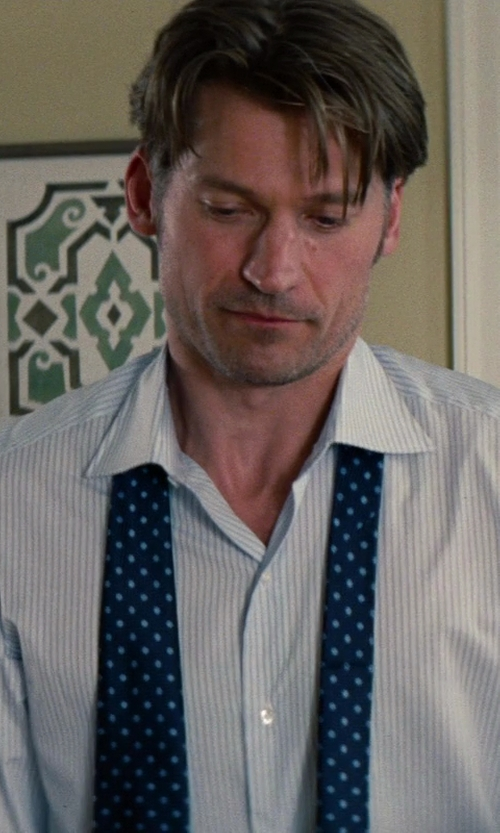 Nikolaj Coster-Waldau with Valentino Polka Dot Tie in The Other Woman