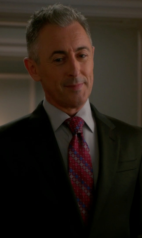 Alan Cumming with Armani Collezioni 'Giorgio' Trim Fit Wool Suit in The Good Wife