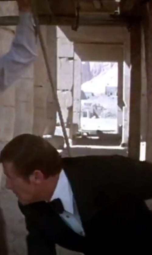 Roger Moore with Hugo Boss Jacob Slim-Fit Cotton Shirt in The Spy Who Loved Me