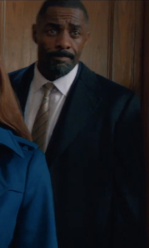 Idris Elba with Boss Hugo Boss Classic Single-Breasted Coat in Molly's Game