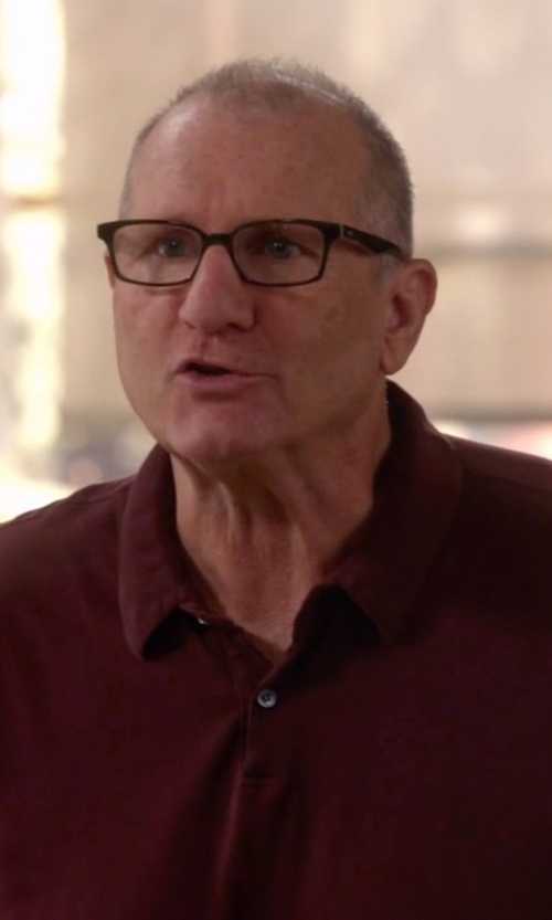 Ed O'Neill with ATM Anthony Thomas Melillo Mixed Media Polo Shirt in Modern Family