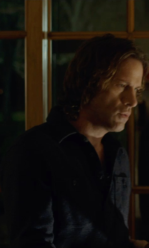 Thomas Jane with Alex Mill Button-Down Collar Denim Shirt in Before I Wake
